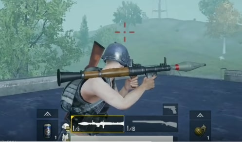 PUBG Mobile rocket launcher
