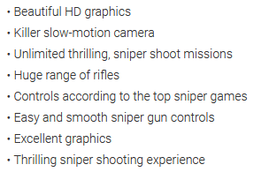 New Sniper Shooting 2020 Features